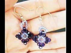 How to make Swarovski Beaded Earrings Tutorial - YouTube