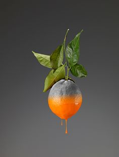 April 2015 ☞ Photography ☞ is an Italian photographer based in Turin, Italy who creates conceptual photos of fruits and vegetables with the color dripping away. The images are. Photomontage, Growth And Decay, Fruit Painting, Still Life Photographers, Fruit Art, Food Design, Photo Manipulation, Art Direction, Food Art