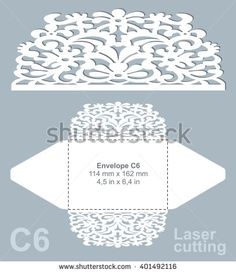 Vector die cut envelope template for laser cutting invitation vector die cut envelope template for laser cutting invitation envelope c6 stock vector stopboris Choice Image