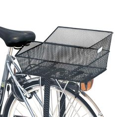 BAS11116: Basil Cento Rear Bag Basket Steel Mesh Fixed Mounting Black (Rear Rack Req)