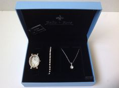Bella & Rose Watch, Bracelet and Necklace Set #BellaRose
