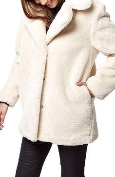 Topshop 'Polar Bear' Faux Fur Coat | Nordstrom