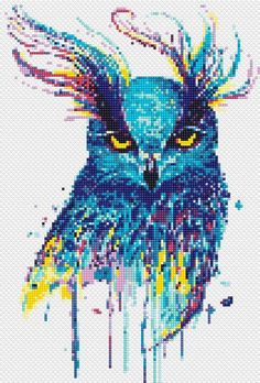 Owl cross stitch pattern Watercolor birds Counted xstitch for wedding decor quotes Owl cross stitch pattern Blue owl Watercolor bird cross stitch Fantasy cross stitch Nursery counted cross stitch Modern cross stitch animals Cross Stitch Tattoo, Cross Stitch Owl, Fantasy Cross Stitch, Simple Cross Stitch, Cross Stitch Animals, Cross Stitch Kits, Cross Stitching, Cross Stitch Embroidery, Cat Cross Stitches