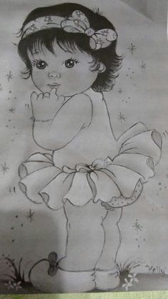Art Drawings Sketches Simple, Girl Drawing Sketches, Dark Art Drawings, Girly Drawings, Art Drawings For Kids, Princess Drawings, Pencil Art Drawings, Cartoon Pencil Drawing, Cute Baby Drawings