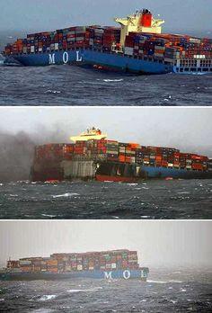 Merchant vessel splits into two off Mumbai coast; crew rescued