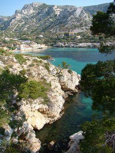 Idyllic bay Calanque de Sormiou near Marseille, France by Agathe Lacombe, via Flickr