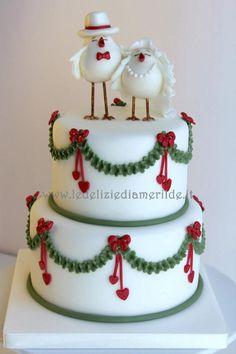 Christmas wedding - Cake by Luciana Amerilde Di Pierro Noel Christmas, Christmas Goodies, Christmas Desserts, Christmas Wedding Cakes, Holiday Cakes, Fancy Cakes, Cute Cakes, Awesome Cakes, Wedding Cake Designs