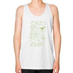 My Westie winks at me sometimes and I always wink back in case It's some soft of code Unisex Fine Jersey Tank (on man)