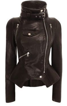 Tailored #Black #Leather #Jacket