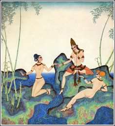 Edmund Dulac - The Kingdom of the Pearl by Leonard Rosentahl - Pearl of Bamboo