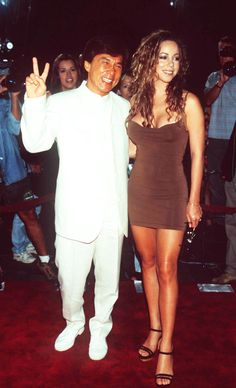 Jackie Chan and Mariah Carey
