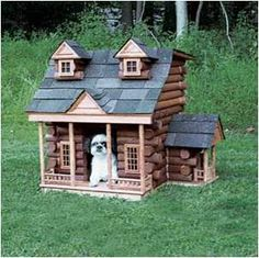 Outdoor and Indoor Dog House Design Ideas. OMG is this not adorable, or what? Niche Chat, Luxury Dog House, Pallet Dog House, House Dog, Tiny House, Dog Playground, Cool Dog Houses, Cat Houses, Pet Home