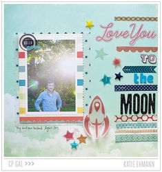 Love You to the Moon by Katie Ehmann for Crate Paper