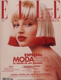 Tatiana Zavialova on the cover of Elle Spain, March 1996 Magazin Vogue Magazine Covers, Elle Magazine, Asos Magazine, Magazine Cover Design, Beauty Magazine, Editorial Photography, Fashion Photography, Red Photography, Glamour Photography