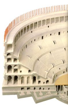 Roman Colosseum, Cut-away