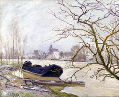 The Loing at High Water, Oil On Canvas by Alfred Sisley (1839-1899, France)