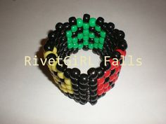 Rasta Peace Sign Bracelet  Kandi by rivetgirlfalls on Etsy, $5.00