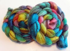 """Swirl BFL Wool Roving (Top) - Handpainted Spinning or Felting Fiber, """"Guinevere"""" - 4 ounces by SheepishCreations, $17.00"""