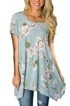 Yusealia Womens Butterfly Printed Shirts Ladies Casual Off Shoulder Short Sleeve Blouse Loose Comfy T Shirt Summer Clothes Tunic Tops for Teen Girls