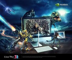 NVIDIA 3D Gaming http://www.behance.net/gallery/NVIDIA-3D-Gaming/10881127
