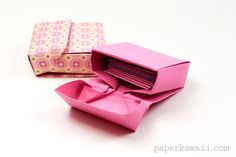 origami flip top box origami instructions #origami #box #giftbox #tutorial #instructions