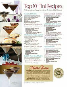 Dove Chocolate Martini Mix - Top 10 'Tinis Recipes