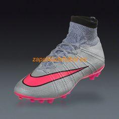 sports shoes 0ee98 08b6f Salida Zapatillas de futbol sala Nike Mercurial Superfly AG-R Para Cesped  Artificial Gris Rosado Hyper Negro Negro Plata Tormenta