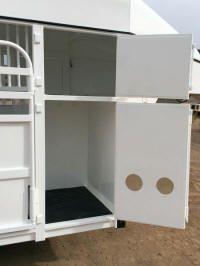 Big bend trailer with dog box Horse Trailers, Locker Storage, Shelves, Dog, Furniture, Home Decor, Diy Dog, Shelving, Shelving Racks