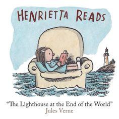 """Henrietta's Reading Adventures,"" by @porliniers. See more on newyorker.com."