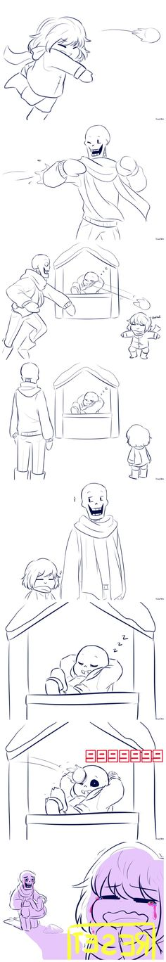 Frisk, Papyrus, and Sans - comic