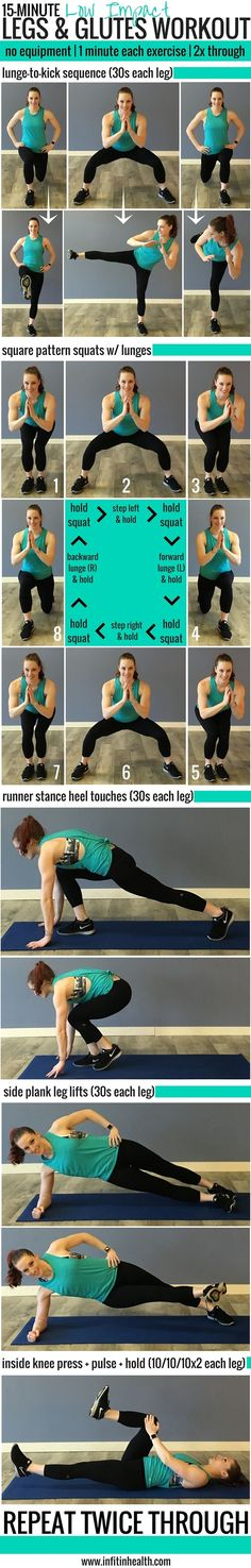 15-Minute Low Impact Legs & Glutes Workout (perfect for quiet spaces!) No gym needed!