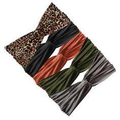 Persia  - Soft Feel Turban Contrast Mix (5pcs) Pink Pewter, Turban Headbands, Double Knitting, Great Hair, Mesh Fabric, Bridal Accessories, Head Wraps, Soft Fabrics, Bobby Pins