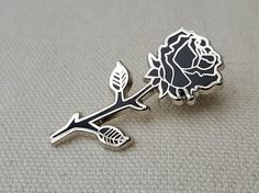 Hallow Collective - The Black Rose Pin