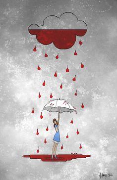 Rainy Day Love Print 8x10 by Alicia VanNoy Call, Love, Umbrella çok güzel ya
