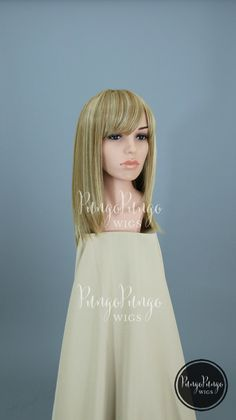 Blonde Wig   Straight Strawberry Blonde + Bangs   Anime Superhero Cosplay Party Costume Cute Lolita Fashion Everyday Heat Safe Synthetic Wig by PungoPungo on Etsy