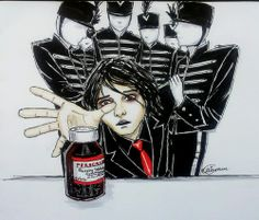 ♥GERARD WAY -MY CHEMICAL ROMANCE♥ Emo Bands, Music Bands, Mcr Memes, Emo Art, Emo Scene, Gerard Way, Fall Out Boy, My Chemical Romance, Dark Art