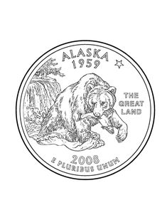 Free Printable State Of Alaska Coloring Pages Showing History Demographics And Points Interest Tradition Culture