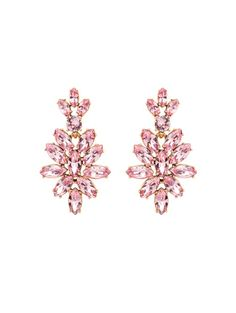 Oscar de la Renta Swarovski Crystal Navette Drop Earrings