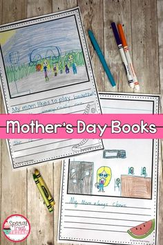 Mother's Day Crafts and Activities Mothers Day Book, First Mothers Day, Mothers Day Crafts, Summer Art Activities, Book Activities, Teaching Resources, Mom Template, 2nd Grade Crafts, Mother's Day Projects