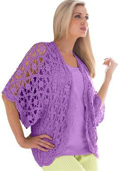 Plus Size Crochet Cardigan