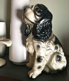 Vintage Collectible Painted Ceramic English Springer Spaniel Cocker Spaniel Dog Statue by YatsDomino on Etsy Cocker Spaniel Dog, Spaniel Puppies, Ceramic Owl, Vintage Ceramic, English Cottage Style, English Springer Spaniel, Ceramic Painting, Dog Lovers, Statue