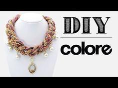 DIY Collar Hilo Trenzado y Relicario - Colore Accesorios - YouTube