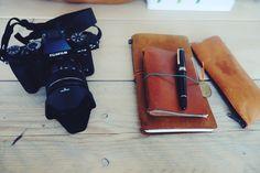 My midori TN & PP & my new FUDJI Camera