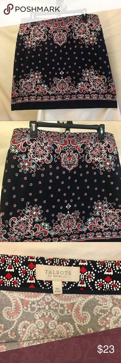 Talbots Cotton Skirt Size 16P Waist 36 inches, length 20 inches. 97% cotton, 3% spandex. Excellent condition. Talbots Skirts