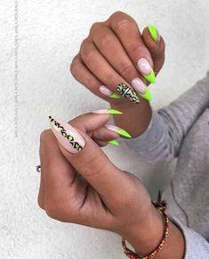 Edgy Nails, Fancy Nails, Stylish Nails, Trendy Nails, Swag Nails, Bright Nail Designs, Acrylic Nail Designs, Bright Nails, Neon Nails