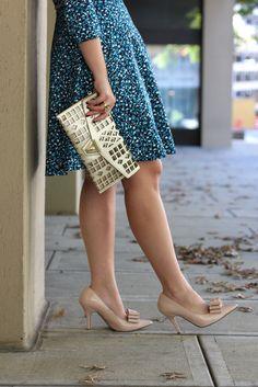 Piol Blue Printed Dress   Outfit   #LivingAfterMidnite