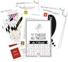 Chasse au trésor de l'Avent: 24 jours = 24 énigmes = 24 surprises... Un calendrier de l'Avent original pour amuser les enfants en attendant Noël ! http://www.happykits.fr/categories/view/63/avent