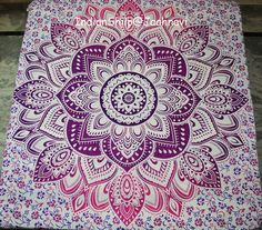 Indian omber Mandala Bedspread Tapestry WallHanging Hippie bohemian Ethnic Thrf