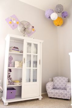 Gray and Lilac Purple Nursery