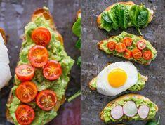 Cel mai sanatos si mai rapid mic dejun: toast cu avocado si diverse toppinguri